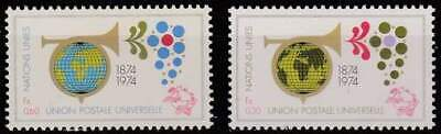 Nations Unies - Geneve postfris 1974 MNH 39-40 - UPU 100 Jaar