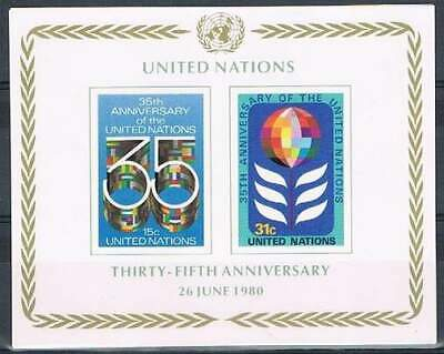 United Nations - New York postfris 1980 MNH blok 7 - UN 35 Jaar