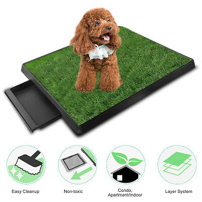 Puppy Potty Trainer Training System  Indoor Pet Dog Grass Pad Pee Mat Patch Turf