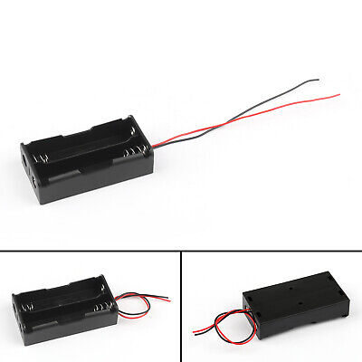 2 Cell 18650 Series Battery Holder Storage Case With Wire Leads 7.4V/M