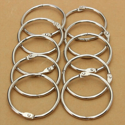20PCS Metal Hinged Ring Craft  Photo Album Book Binder Split Keyring Scrapbook