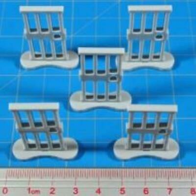 Litko Zombicide Prison Cell Door Markers - White MINT