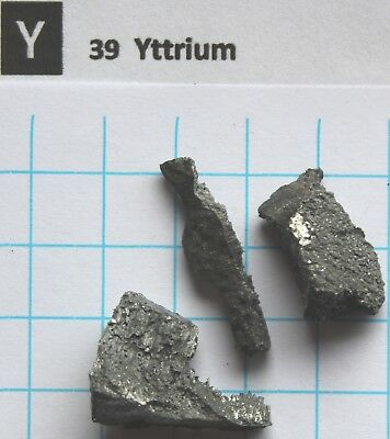 10 gram 99.95% Yttrium metal pieces 1-25 mm element 39 sample