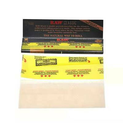 5 Booklets RAW Black Natural Hemp Unrefined Rolling Papers King Size Classic