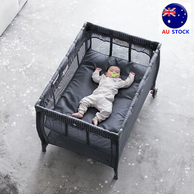 Portable Baby Crib Bassinet Playpen Folding Bed Organizer Travel Multi-function