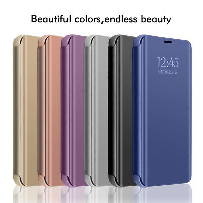 For iPhone 6 6s 7 8 Plus X XR XS Max Luxury Mirror View Flip Case Stand Cover