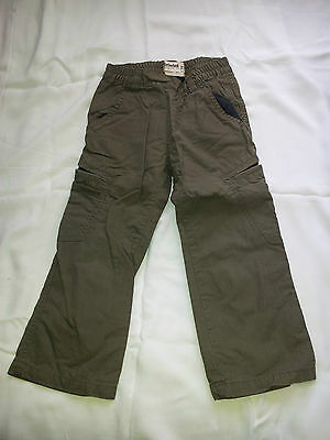 Boys Original Timberland Khaki Pull-On Trousers  Excellent Condition Age 3 Years