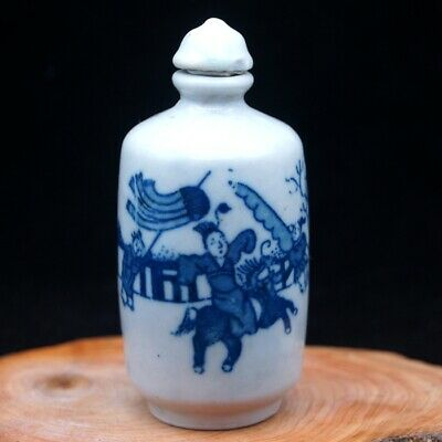 Old Chinese Collectible Handmade ceramics ancient life porcelain snuff Bottle