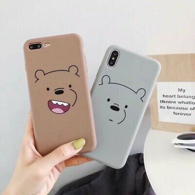 Cartoon Bear Soft TPU Shockproof Phone Case Cover For iPhone XS Max XR 6 7 8plus