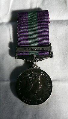 General Service Medal 1918-1962 with clasp MALAYA to Pte. D. Parsons.  R.A.M.C.