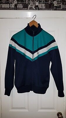 Authentic West Germany Puma Vintage Torquoise Track Top Size Small