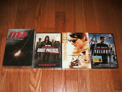 Brand New. Complete Mission Impossible movie set on DVD. 1-6 Fallout. Tom Cruise