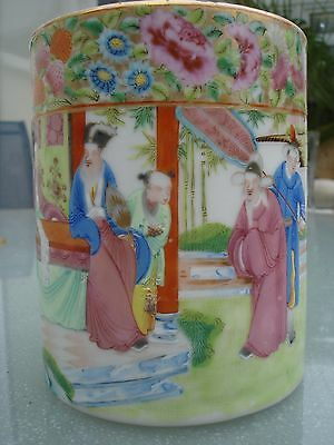 18c Chinese porcelain mug hand painted famile rose