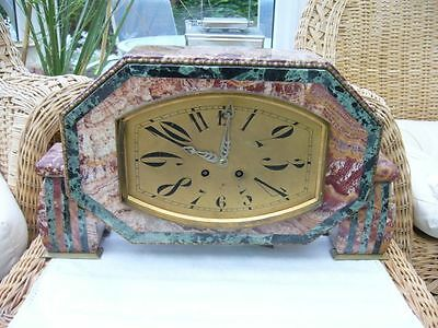 Art Deco French marble granite clock 20's or 30's