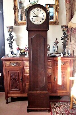 Antique German 'HAC' Longcase Grandmother 8-Day Clock with Westminster Chimes
