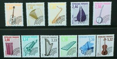 FRANCE 1991 Musical Instruments (#3). Set of 11. Mint Never Hinged. SG3052/3062.