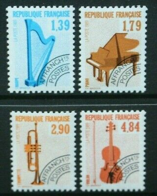 FRANCE 1989-90 Musical Instruments (#1). Set of 4. Mint Never Hinged SG2896/2899