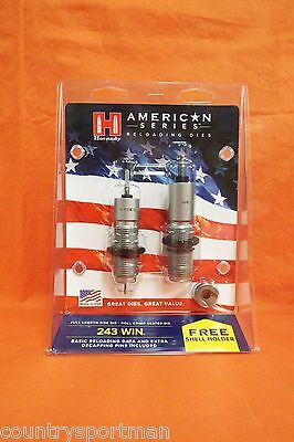 0 224 Free Shell Holder Dies Hornady 486228 American Die Set 2 223