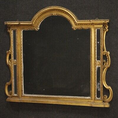 Mirror Caminiera Wooden Paint Golden Frame Italian Antique Style 900