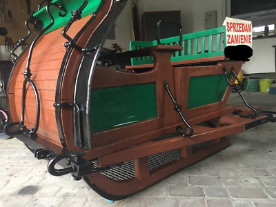 "REDUCED Real vintage Wooden ""Santa's""  Sleigh - solid and designed to be used."