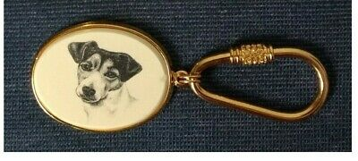 Solid Brass KEY RING with Choice of Dog Photo Tag ~ Shepherd or Terrier