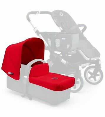 Bugaboo Donkey Tailored  Fabric Set Extendable Hood And Apron Red