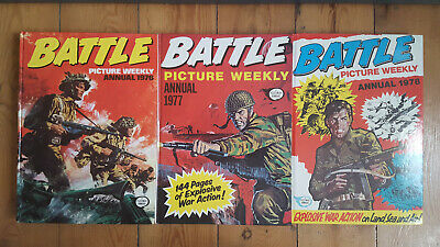 Battle Picture Weekly Annual 1976, 1977 & 1978 - 3 Volume collection