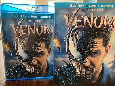 Venom (Blu-ray + DVD 2018)  with Slipcover Marvel Sony Spider-Man