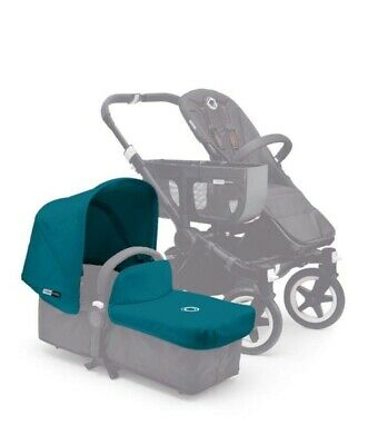 Bugaboo Donkey Tailored  Fabric Set Extendable Hood And Apron Petrol Blue