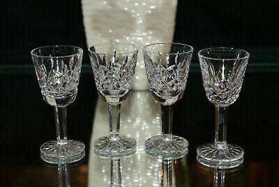 Set of Four Waterford Lismore Small Liquor / Cordial Stems Made in Ireland