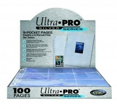 Ultra Pro 9-Pocket Portfolio Silver Series - 9 Pocket Pages (100) SW
