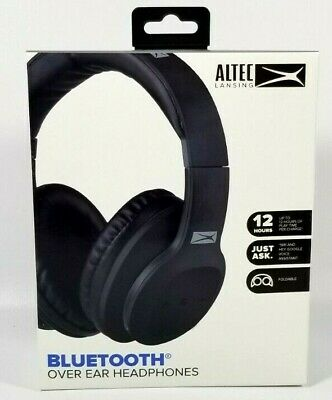 b21422f9788 Altec Lansing Bluetooth Over Ear Headphones MZX301 Black w/Built-in  Microphone