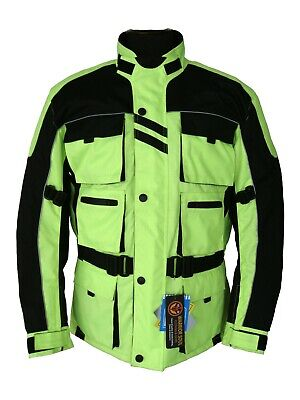 New HIVIS Motorcycle Waterproof Breathable Cordura Textile CE Armour Bike Jacket