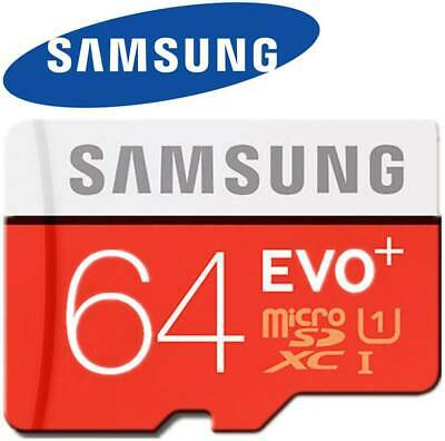 Samsung Memory 64GB EVO+ TF / Micro SD Card Class 10 with Adapter UK Stock_SW