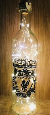 Liverpool football club personalised Light Up Bottle for any occasion