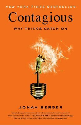 Contagious Why Things Catch on by Jonah Berger 9781451686586 | Brand New