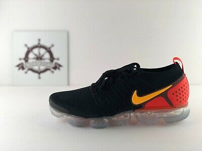 New Mens Sz 11.5 Nike Air Vapormax Flyknit 2 (942842 005) Black/Laser Orange