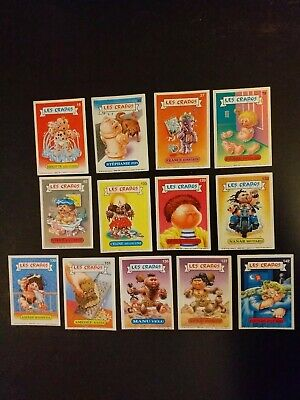 LOT de 13 Cartes les crados Album 1 French Garbage Pail Kids