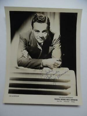 1944 JOE MORRISON Jazz Orchestra Bandleader Signed Inscribed Photo Vintage