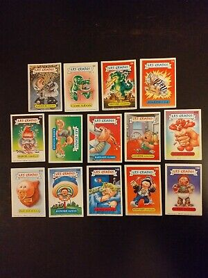 LOT de 14 Cartes les crados Album 1 French Garbage Pail Kids