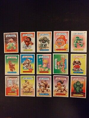 LOT de 15 Cartes les crados Album 1 French Garbage Pail Kids
