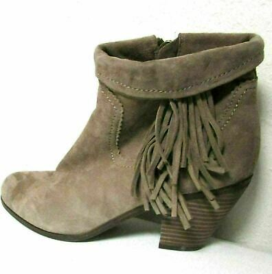 824a1d47593c SAM EDELMAN WOMENS Brown Suede Floral Embroidered Fringe Ankle Boots ...