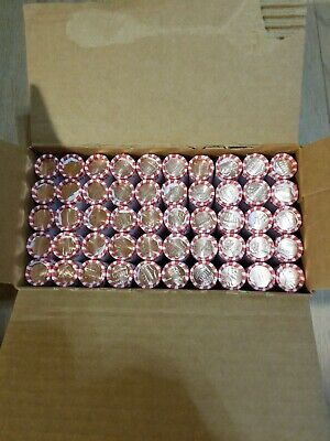 2019 D Lincoln Cents $25 Full Box of BU Pennies 50 Rolls Denver Minted!