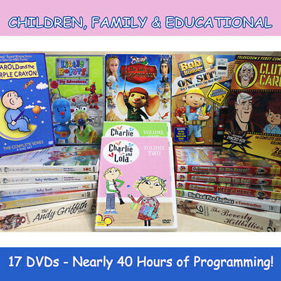CHILDREN / FAMILY / KIDS Educational DVDs - 17 different Titles - Approx 40 Hrs