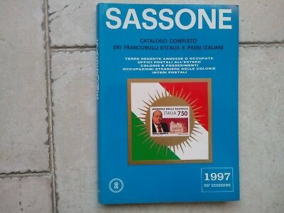Catalogo Sassone 1997 francobolli Italia e paesi It. vol.2 Terre redente ecc.
