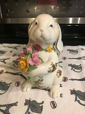 Royal Albert Old Country Roses Floppy Ear Bunny Figure