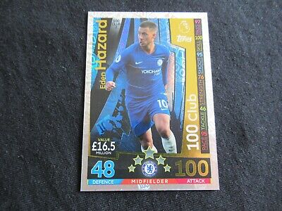 MATCH ATTAX EXTRA 2018/19 EDEN HAZARD CHELSEA 100 CLUB hundred club MINT