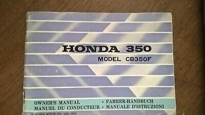 HONDA CB350F- 1973 – livret du propriétaire / owner's manual FR/GB/DE/IT