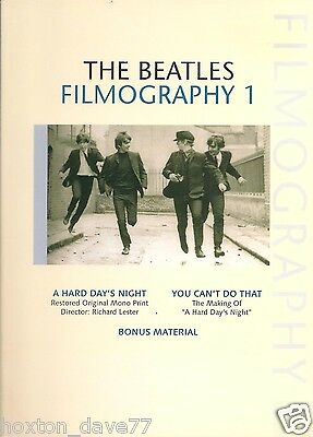 THE BEATLES Filmography 1 DVD: The making of A Hard Day's Night restored footage