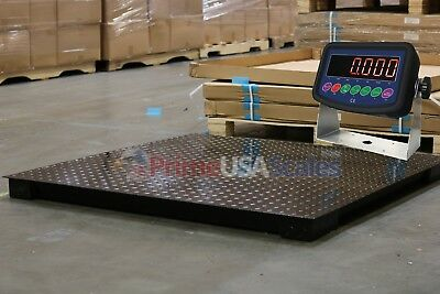 """5 Year Warranty 7,000 lb 40"""" x 40"""" Floor Scale Weighing Pallets Indicator"""